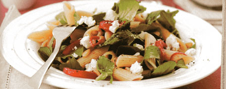 Penne with peppers